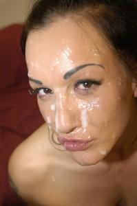 Chantelle Foxx covered in cum